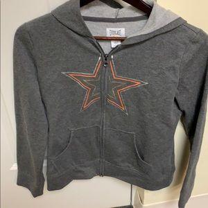 Cute gray STAR hoodie size 16.